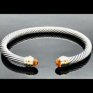 David Yurman Cable Bracelet Citrine & 14k Gold